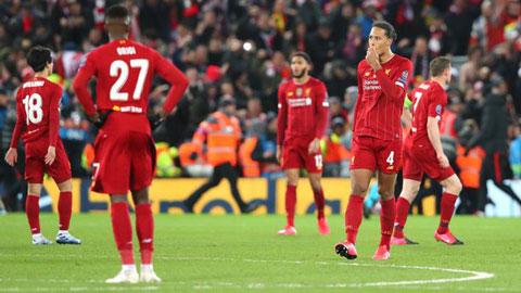 Liverpool thâm hụt tài chính nghiêm trọng vì bị loại ở Champions League