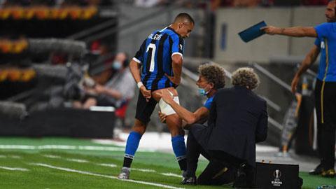 Sanchez lại chấn thương, Inter méo mặt