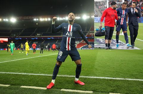 """Neymar đủ sức giúp PSG lọt vào bán kết dù mất """"cạ cứng"""" Mbappe vì chấn thương"""