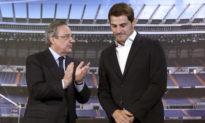 Casillas sắp trở lại Real làm cố vấn cho Chủ tịch Perez