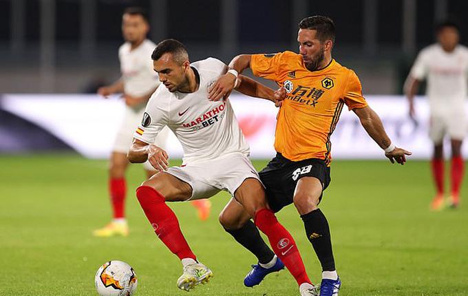 Sevilla vùng lên sau tình huống hút chết và dồn ép Wolves