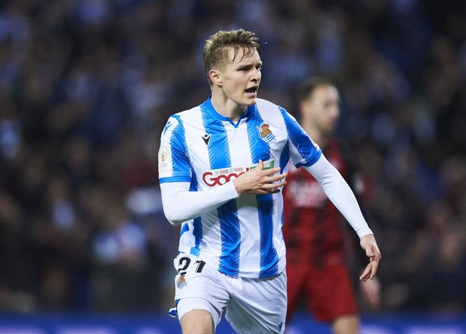 Odegaard đã có mùa giải thăng hoa tại Sociedad