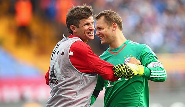 Mueller và Neuer là đồng đội với nhau trong nhiều năm qua
