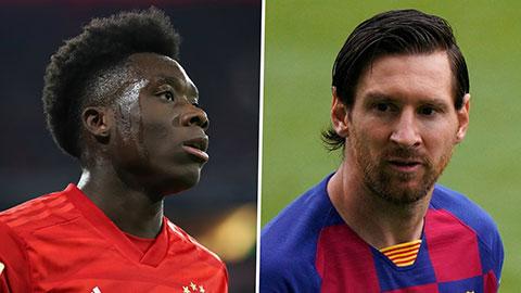 Alphonso Davies khoe bố mẹ được đối đầu thần tượng Messi