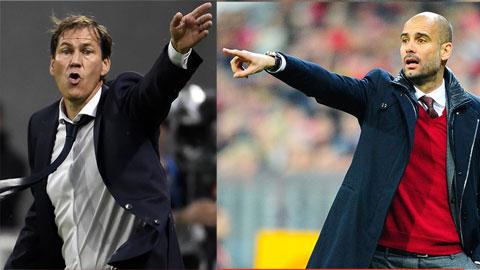Rudi Garcia (Lyon) -  Pep Guardiola (Man City)