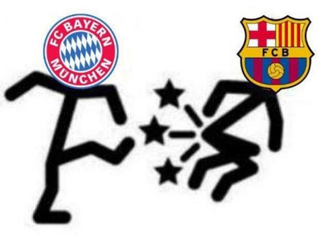 Bayern đã đá văng Barca khỏi Champions League
