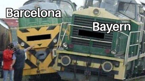 Chết cười với loạt ảnh chế về trận thua lịch sử của Barca trước Bayern