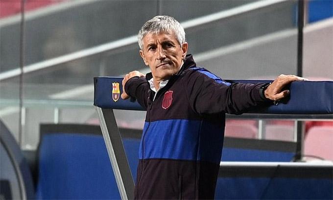 HLV Setien chỉ biết câm nín nhìn Barca thua thảm