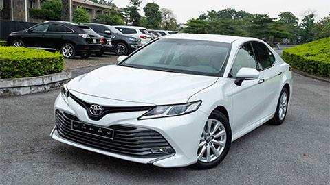Toyota Camry vượt VinFast Lux A2.0 dẫn đầu xe hạng D, Honda Accord tiếp tục 'đội sổ'