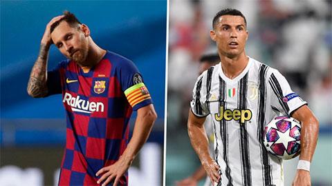 Cả Messi và Ronaldo cùng vắng mặt ở bán kết Champions League sau 15 năm