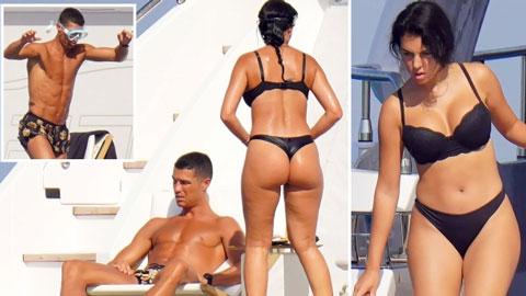 Bồ Ronaldo khoe số đo vàng trên siêu du thuyền