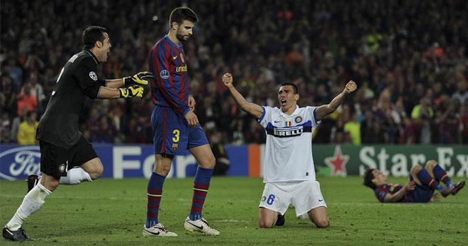 Barca của Pep thất bại trước Inter Milan năm 2010 dù áp đảo hoàn toàn trong cả 2 lượt trận