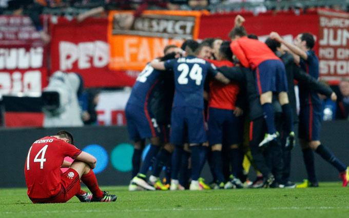 Mùa 2015/16, Bayern của Pep cũng gục ngã trước Atletico dù tung ra 53 cú dứt điểm sau 2 lượt trận