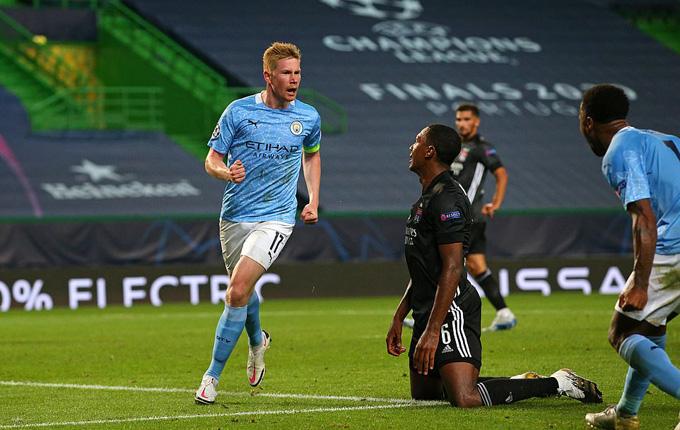 De Bruyne là cầu thủ chơi tốt nhất bên phía Man City đêm qua