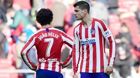 Felix và Morata (phải) là 2 trong 4 tiền đạo đắt giá của Atletico hiện nay