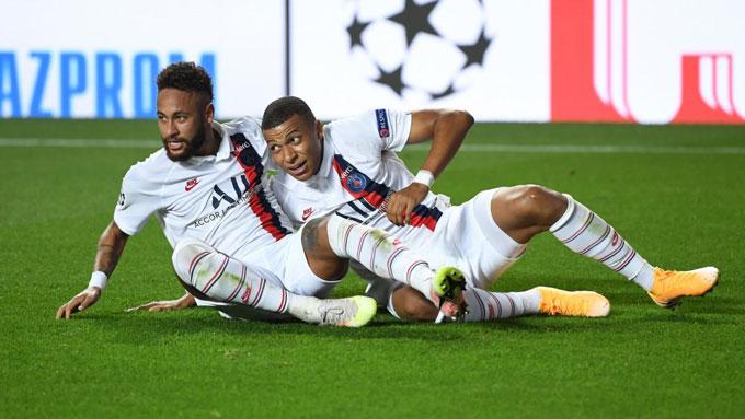 PSG đang phụ thuộc hoàn toàn vào Neymar và Mbappe