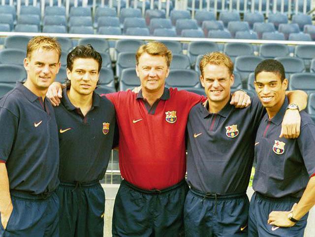 Van Gaal và tổ học trò Hà Lan trước đây