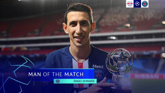 Phần thưởng cầu thủ hay nhất trận xứng đáng thuộc về Di Maria