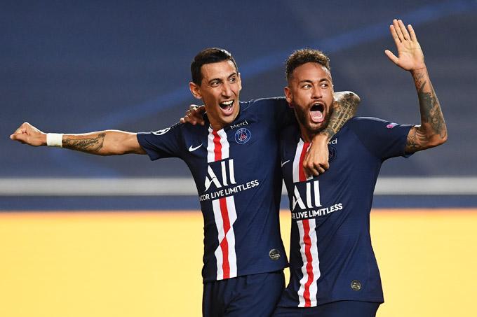 Di Maria và Neymar đều có một trận đấu xuất sắc