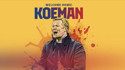 Chính thức: Koeman ký hợp đồng 2 năm với Barca