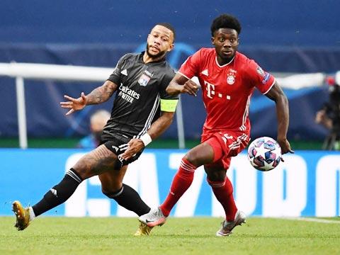 Lyon (trái) đã không thể gây bất ngờ trước Bayern