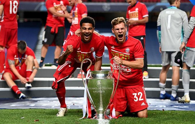 Gnabry (trái) và Kimmich sẽ là xương sống của một Bayern hứa hẹn thống trị châu Âu nhiều năm tới