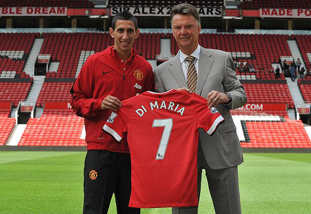 Di Maria là bản hợp đồng đáng chú ý nhất khi Van Gaal còn tại vị