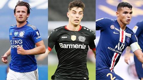 Chelsea sẽ chơi lớn mùa tới khi mua về những Ben Chidwell (bìa trái), Kai Havertz và Thiago Silva (bìa phải)