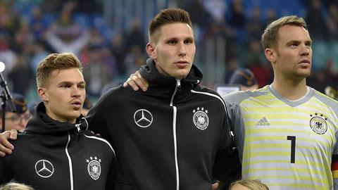 Kimmich (trái) và Neuer (phải) sẽ được miễn triệu tập trung khi Suele (giữa) vẫn có tên