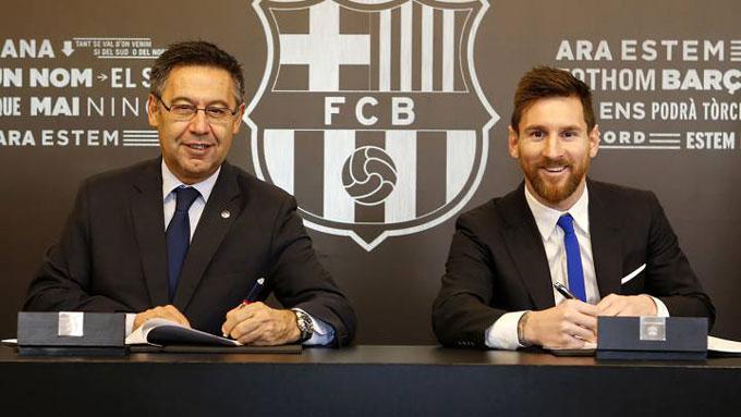 Hợp đồng của Messi có thời hạn tới tháng 6/2021 nhưng có điều khoản cho phép anh đơn phương chấm dứt hợp đồng vào cuối mùa giải 2020