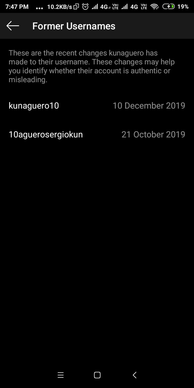 Tên Instagram cũ của Aguero luôn có số 10