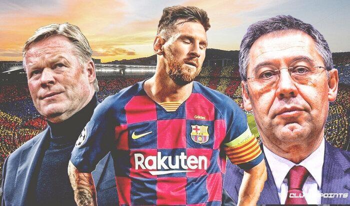 Mâu thuẫn nội tại với chủ tịch Bartomeu và mới phát sinh với tân HLV Koeman đã khiến Messi khơi mào một cuộc chiến