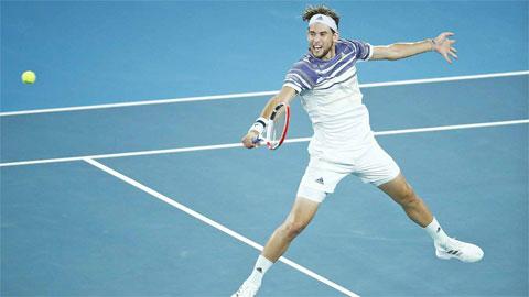 Thiem đã chơi ba trận chung kết Grand Slam, ở Roland Garros 2018-2019 và Australian Open 2020
