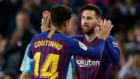 Với Coutinho, Barca đã có sẵn người thay Messi