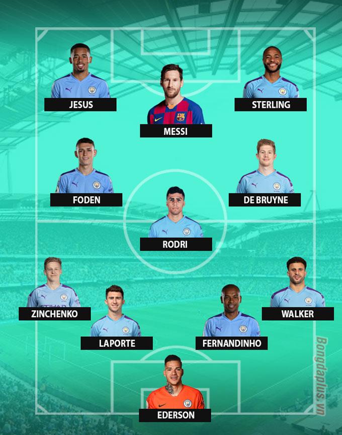3 cách Man City sắp xếp đội hình nếu có được Messi