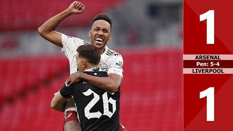 Arsenal 1-1 Liverpool, pen: 5-4 (Siêu cúp Anh 2020)