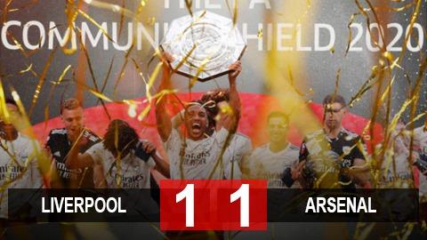 Kết quả Liverpool 1-1 Arsenal (pen 4-5): Pháo thủ vô địch Siêu cúp Anh sau loạt luân lưu bản lĩnh