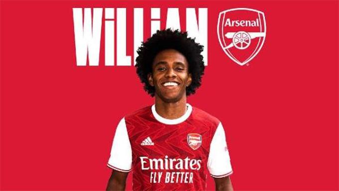 Arsenal mới giành được tân binh chất lượng Willian