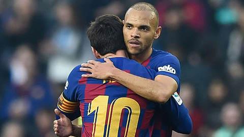 Braithwaite muốn áo số 10 của Messi ở Barca