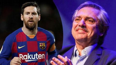 Messi được tổng thống Argentina kêu gọi hồi hương