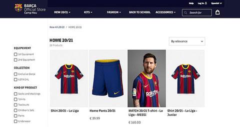 Barca vẫn rao bán áo đầu mùa tới với hình ảnh của Messi