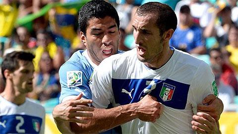 Suarez gọi điện cho Chiellini giảng hòa trước khi gia nhập Juventus