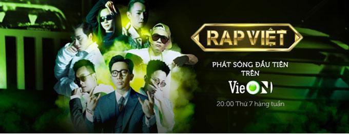 Rap Việt - show truyền đang được yêu thích nhất hiện đang phát sóng đầu tiên trên VieON