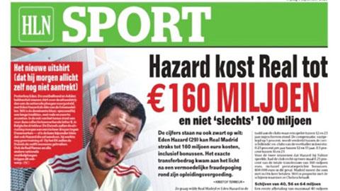 Hazard có thể là bản hợp đồng đắt giá nhất lịch sử Real