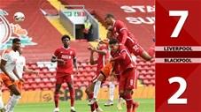 Liverpool 7-2 Blackpool (Giao hữu CLB 2020)