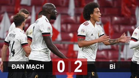 Kết quả Đan Mạch 0-2 Bỉ: Thắng nhẹ ngày vắng Hazard và De Bruyne
