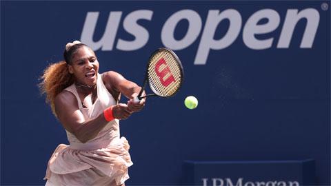 Serena thoát hiểm đoạt vé chơi trận tứ kết Grand Slam thứ 53