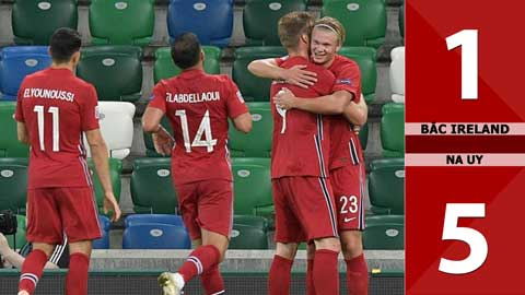 Bắc Ireland 1-5 Na Uy (Bảng B1 Nations League 2020/21)