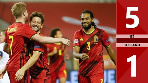 Bỉ 5-1 Iceland (Bảng A2 Nation League 200/21)