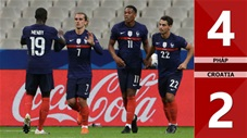 Pháp 4-2 Croatia (Bảng A3 Nation League 2020/21)
